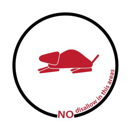 disapprove: rat disallow tag Illustration
