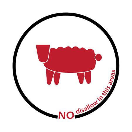 disallow: sheep disallow tag Illustration