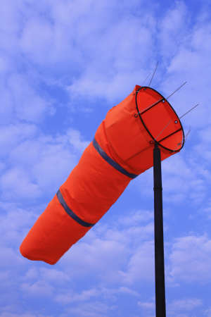 windsock with air flow Stock Photo