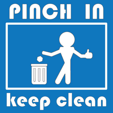 keep clean: pinch in   keep clean
