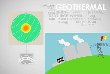 geothermal energy Vector