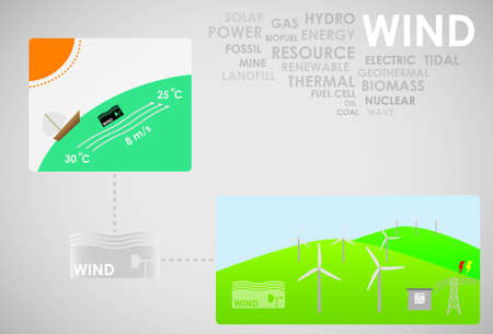 hydro electric: wind energy Illustration