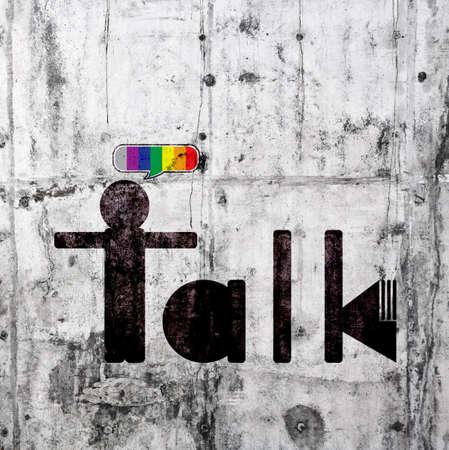 talk man sign Reklamní fotografie
