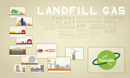 landfill gas Vector