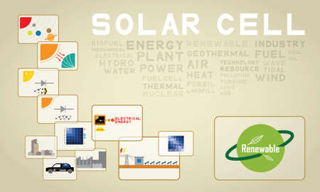 thermal power plant: c�lula solar Vectores