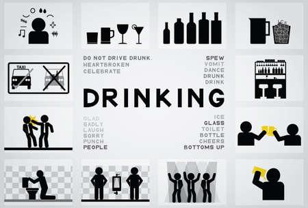 icono de beber Ilustración de vector
