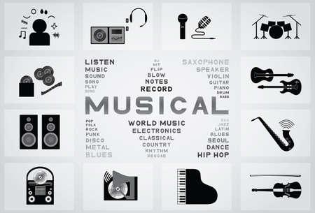 musical icon Stock Vector - 21636285