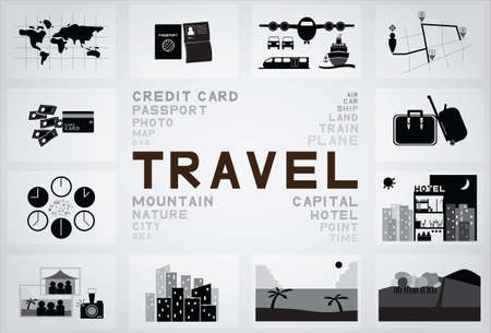 Travel icon Illustration