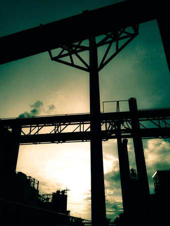 Industry in evening Stock Photo