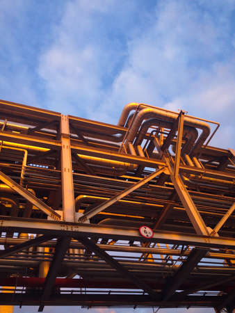 Pipe rack Stock Photo