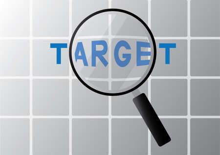 zoom in: target Illustration