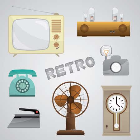 clock radio: retro