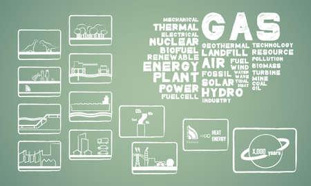 energía gas natural Ilustración de vector