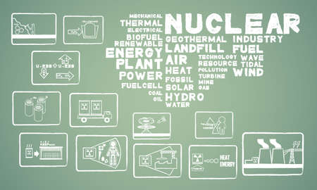 thermal power plant: energ�a nuclear Vectores