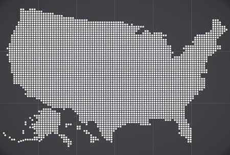 米国はマップします。