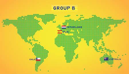 group b: map group B