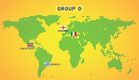 map group D Illustration