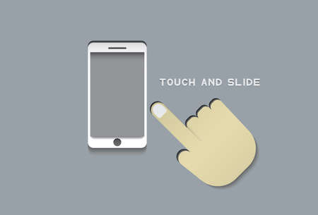 touch: touch and slide