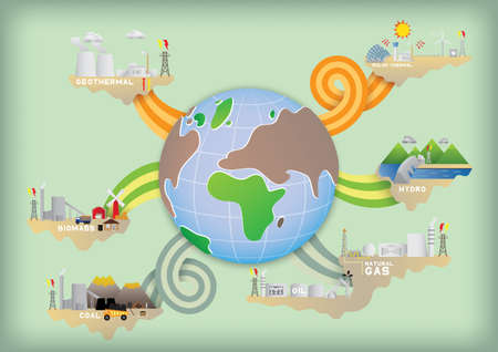 world energy Vektorové ilustrace