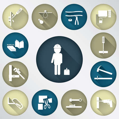 tech tool spot icon Illustration