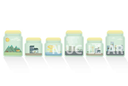 crock: nuclear in jar Illustration