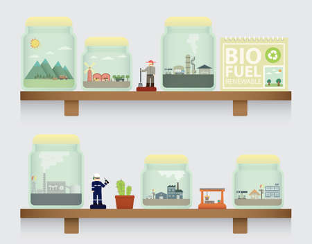 biofuel: biofuel in jar