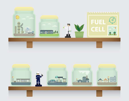 fuel cell: fuel cell in jar
