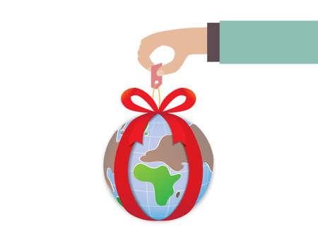 gratuity: Gift world Illustration