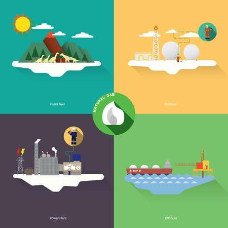 natural gas Illustration