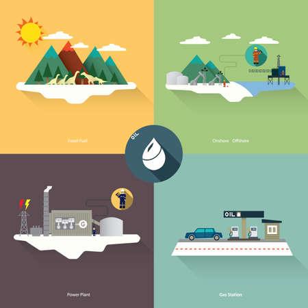 oil energy Illustration