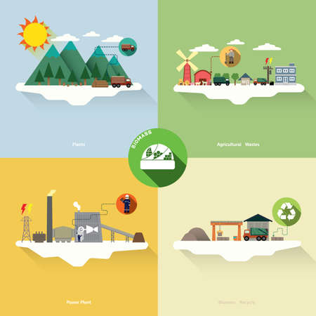 biomass: biomass energy Illustration