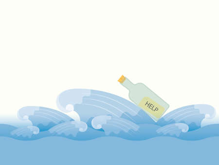 message in a bottle: Bottle with a message