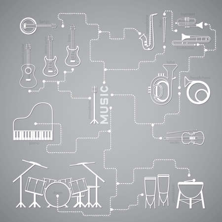 music: music line Illustration