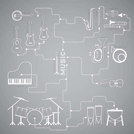 accoustic: music line Illustration