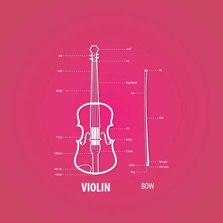 violin part Illustration