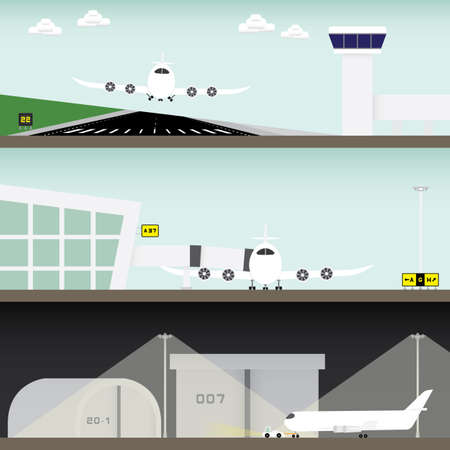 docking: airport in simple graphic