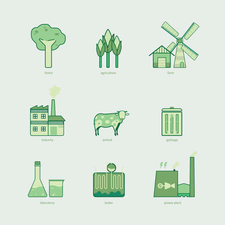 biomass: biomass graphic line icon