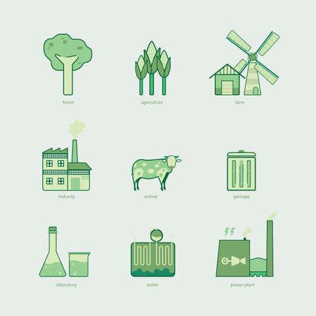 Biomass: biomass graphic line icon