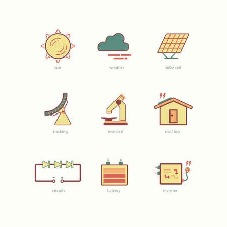 solar cell: solar cell icon