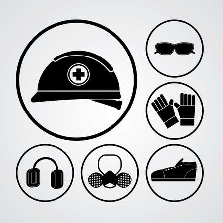 personal protective equipment: basic personal protective equipment in black icon