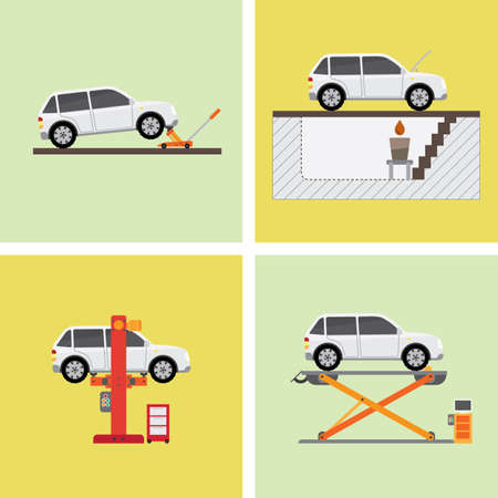 garage mechanic: garage