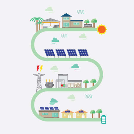 solar cell: solar cell graphic