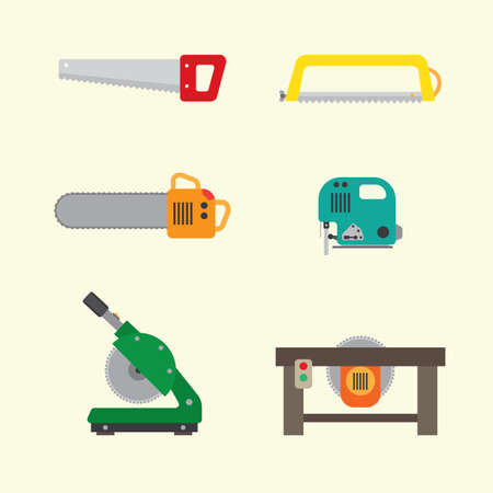 abstract mill: saw tool icon Illustration