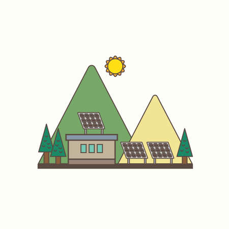 solarcell: solarcell energy Illustration