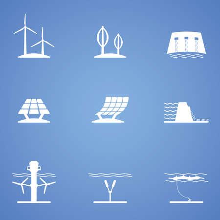 source d eau: renouvelables icon partie Illustration