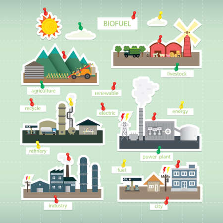 biofuel paper icon on board Vector Illustration