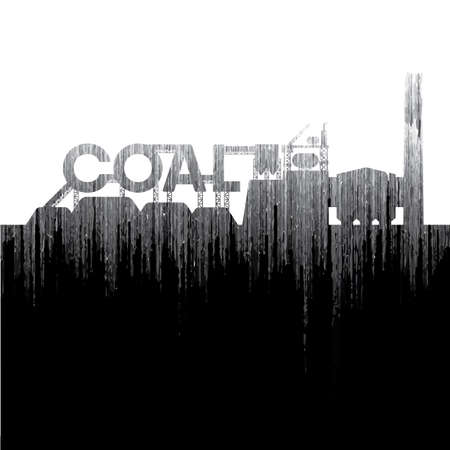 coal power plant with grain effect Illustration