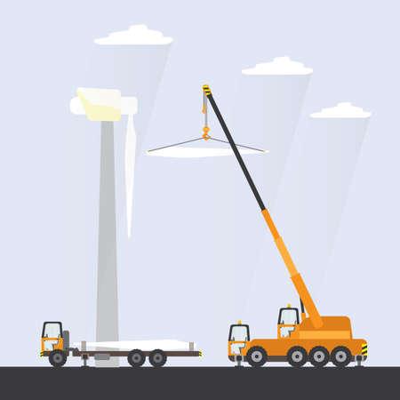 instalación de turbinas eólicas