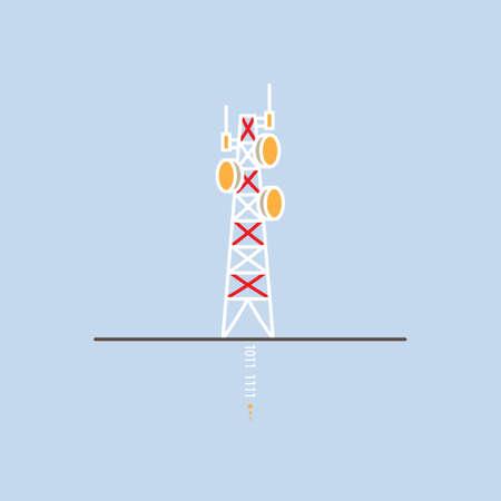 radio mast: television antennas