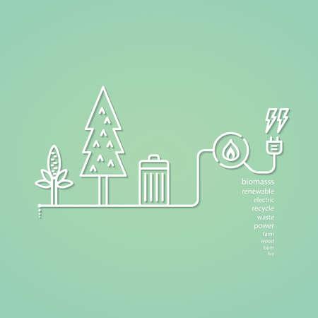 biomasa: biomasa gráfico simple Vectores